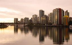 Vancouver del centro al crepuscolo Immagine Stock