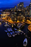 Vancouver del centro alla notte Fotografie Stock