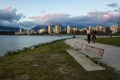 Vancouver del centro dal punto dei corredi Fotografia Stock Libera da Diritti