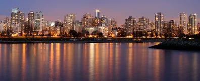 Vancouver del centro su una sera di inverno Immagine Stock