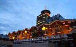 Vancouver an der Dämmerung Lizenzfreie Stockfotos
