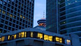 Vancouver an der Dämmerung Stockbild