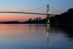 Vancouver-Dämmerung Stockbild