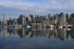 Vancouver downtown. View from Stanley park Royalty Free Stock Photography