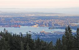 Vancouver Downtown At Sunset Royalty Free Stock Images