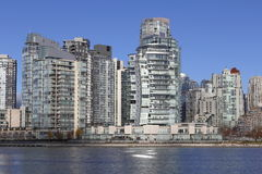 Vancouver Downtown Condominiums. High density living in the west coast city of Vancouver on the shores of False Creek Stock Photography