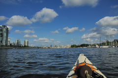 Vancouver downtown from kayak Stock Photography