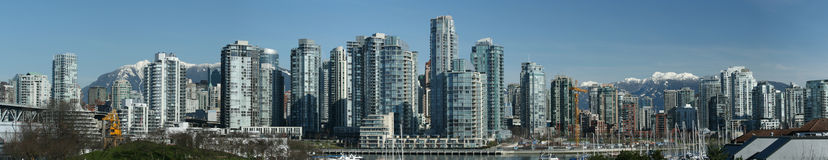Vancouver Downtown Panorama stock images