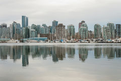 Vancouver Downtown Reflection on a Cloudy Day. Vancouver Downtown Reflection, Cloudy Day, British Columbia, Canada royalty free stock images