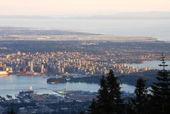 Vancouver downtown at sunset Stock Photos