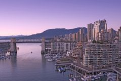 Vancouver at dusk Stock Images