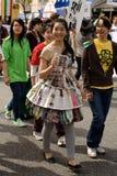 Vancouver Earth Day Parade, Eco Fashion stock photos
