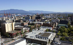 Vancouver East Side. Looking northeast over Vancouver's downtown eastside district Stock Photo
