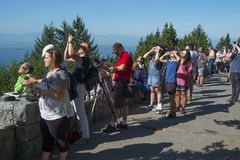 Vancouver eclipse of the sun, August 21, 2017 Stock Photos