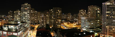 Vancouver en el color de la noche Fotografía de archivo libre de regalías