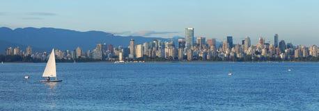 Vancouver en la noche Foto de archivo libre de regalías