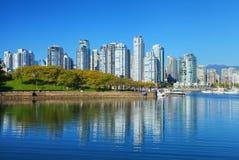 Vancouver en la noche Fotos de archivo libres de regalías