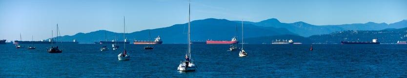 Vancouver engelsk fjärd royaltyfria foton
