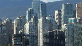 Vancouver establishing shot. Extreme zoom out Vancouver Canada stock footage