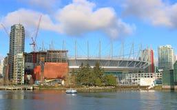 Vancouver et construction du centre Image libre de droits