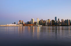 Vancouver evening , Canada. Vancouver evening skyline, Canada BC Stock Images