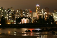 Vancouver Evening Cityscape Stock Photos