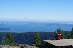 Vancouver seen from Mount Gardner on Bowen Island Stock Image