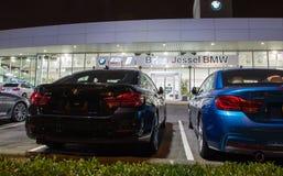 Vancouver F. KR., Kanada - Januari 9, 2018: Kontor av den officiella återförsäljaren BMW BMW är en tysk biltillverkare som specia Royaltyfri Bild