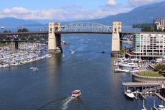 Vancouver False Creek and Bridge Royalty Free Stock Image