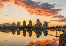 Vancouver, False Creek. An early morning. British Columbia, Canada. Royalty Free Stock Image