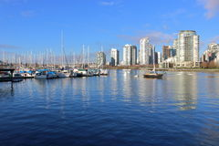 Vancouver and False Creek Marina Stock Photo