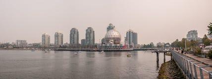 Vancouver - False Creek pendant AVANT JÉSUS CHRIST les feux de forêt photographie stock libre de droits