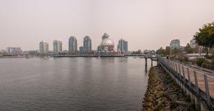Vancouver - False Creek pendant AVANT JÉSUS CHRIST les feux de forêt images libres de droits