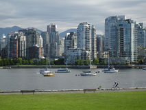 Vancouver False Creek Seawall Stock Images