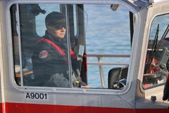 Vancouver Fire and Rescue Boat Captain royalty free stock images
