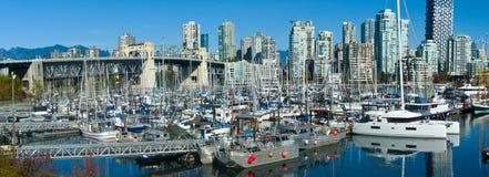 Vancouver fiskares hamnplats royaltyfria bilder