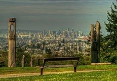 Vancouver från över arkivbilder