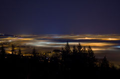 Vancouver and the Fraser Valley shrouded in fog Stock Photography