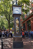 Vancouver, Gastown Steam Clock Stock Images