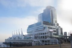 VANCOUVER - 13 GENNAIO 2018: Vista panoramica del posto e del cru del Canada Immagine Stock