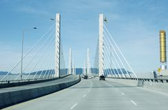 Vancouver Golden Ears Bridge Stock Image