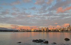 Vancouver Golden Sunset Stock Images