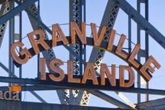 Vancouver granville wyspa obrazy stock