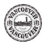 Vancouver grunge Stempel Stockbilder
