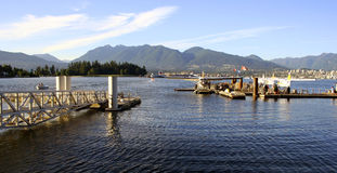 Vancouver Harbour, Canada. Hydroplanes in Vancouver Harbour, Canada Royalty Free Stock Photography