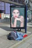 Vancouver hemlös person arkivfoto