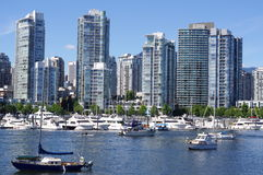 Vancouver high-rise condominiums Royalty Free Stock Image