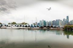 Vancouver horisont och portsikt Kanada Royaltyfria Bilder