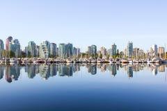 Vancouver horisont, yacht, vatten Arkivfoto