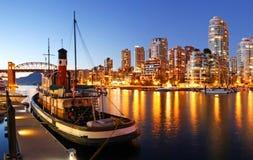 Vancouver i Kanada Arkivbild